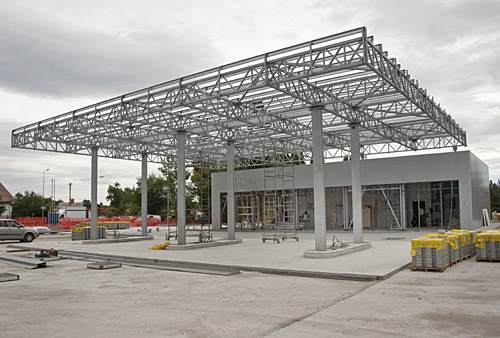 Gas station structure