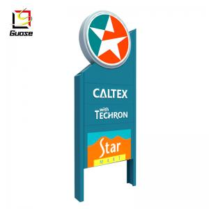 petrol pylon sign with led gas station price signboard Caltex customized