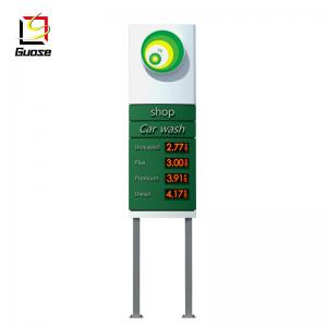 outdoor gas station sign board pylon signs