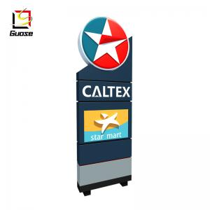 outdoor screen price gas station advertising led price sign