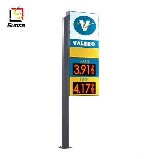 Pylon sign pricing totem gas station signs led gas price signs suppliers