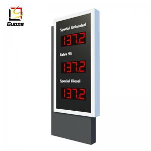 gas petrol station pillar sign board display equipment manufacturer