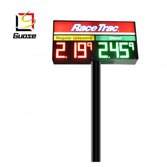 Gas station led advertising sign