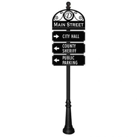 Retro Design Matel Material Directional Sign