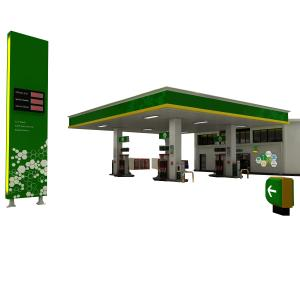 fuel station structure