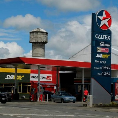 A cooperation with the Caltex gas station