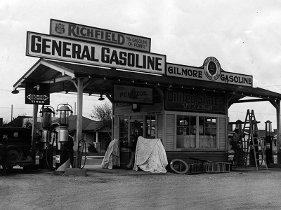 From small fuel pump to gas station design history sharing